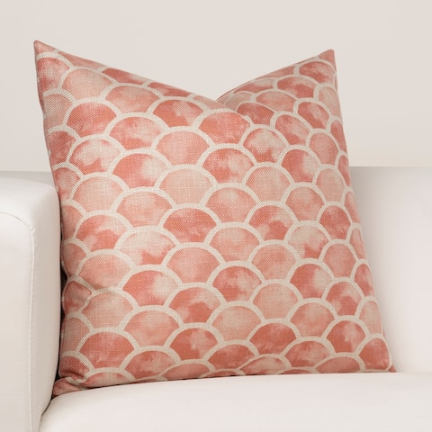 Porch & Den Kinglet Half Shell Pattern Throw Pillow