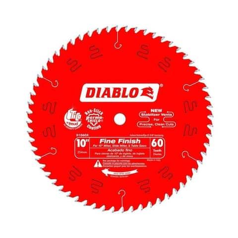 "Freud Diablo 10"" x 60-Tooth ATB Fine Finish Saw Blade with 5/8"" Arbor"