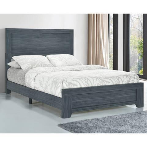Porch & Den Augustine Dark Grey Oak Bed