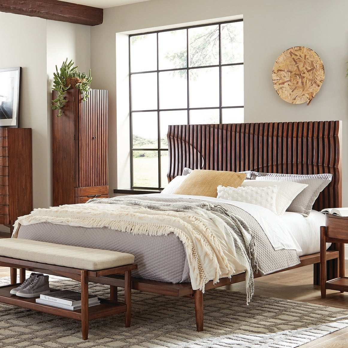 Picture of: Carson Carrington Hjalstad Teak Platform Bed Overstock 29176959