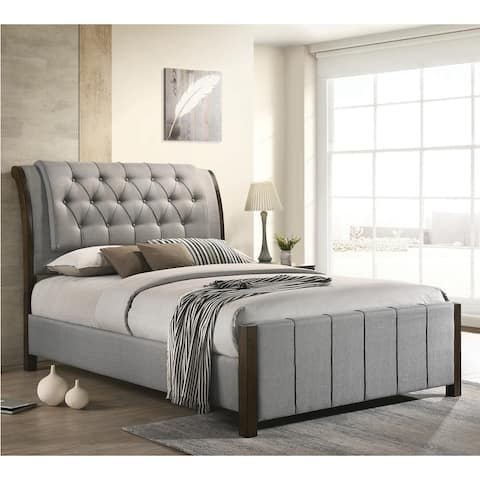 Copper Grove Sokal Button-tufted Upholstered Bed