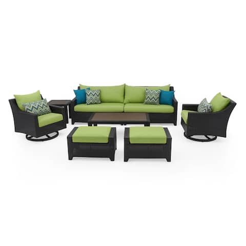 Deco Deluxe 8pc Sofa & Club Chair Set in Ginkgo Green by RST Brands