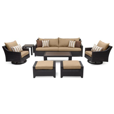 Deco Deluxe 8pc Sofa & Club Chair Set in Maxim Beige by RST Brands