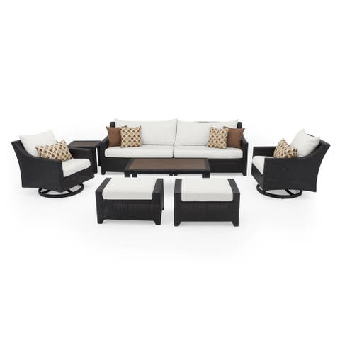 Deco Deluxe 8pc Sofa & Club Chair Set in Moroccan Cream by RST Brands