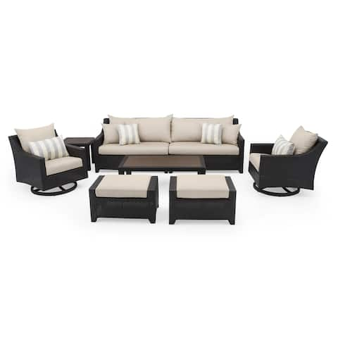 Deco Deluxe 8pc Sofa & Club Chair Set in Slate Gray by RST Brands