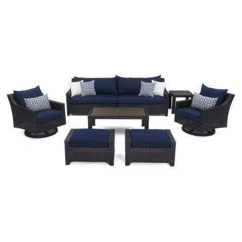 Deco Deluxe 8pc Sofa & Club Chair Set in Spa Blue by RST Brands