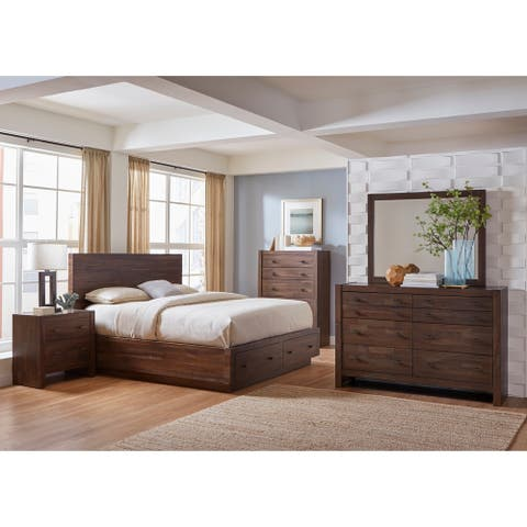 Carbon Loft Marat Varied Coffee 4-piece Bedroom Set