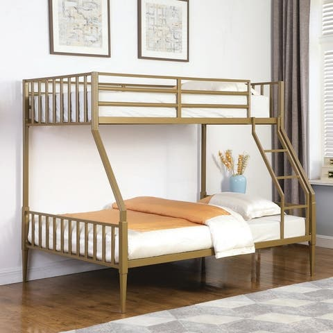 Taylor & Olive Dianthus Gold Twin-over-Full Bunk Bed