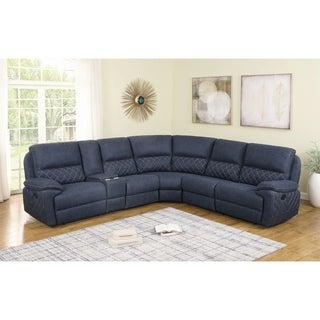 """Copper Grove Stebnyk Upholstered 6-piece Motion Sectional - 126"""" x 113"""" x 41.75"""""""