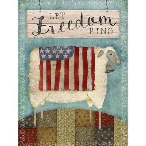 CANVAS Let Freedom Ring Lambby Beth Albert Graphic Art