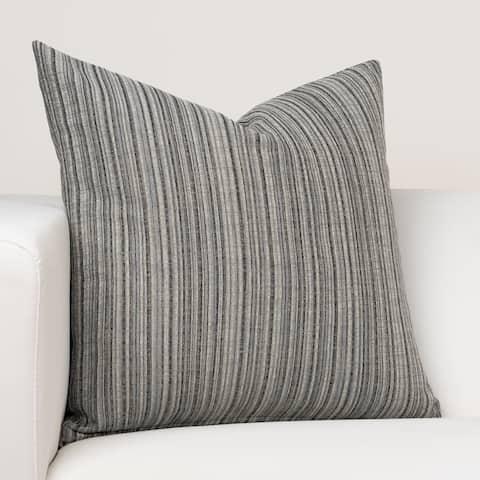 Ernest Hemingway Sandpiper Stripe Slate Designer Throw Pillow