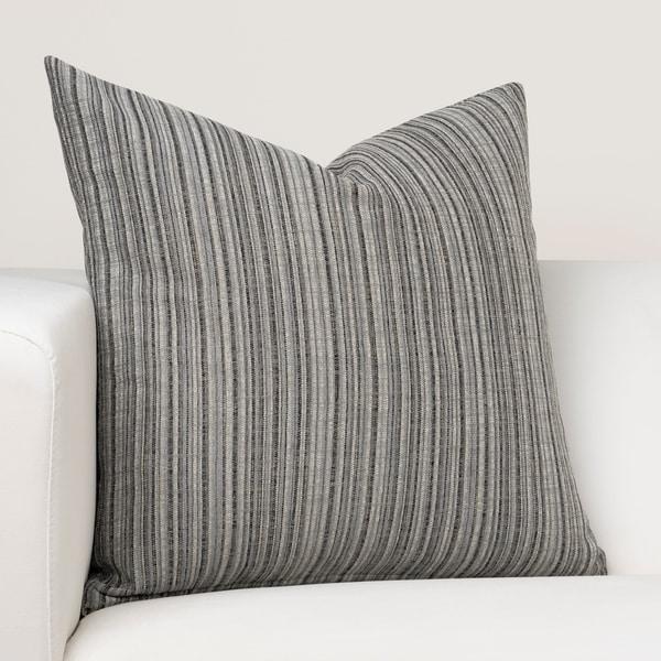 Ernest Hemingway Sandpiper Stripe Slate Designer Throw Pillow. Opens flyout.
