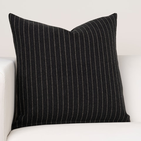 Porch & Den Kingsvwood Black Striped Throw Pillow