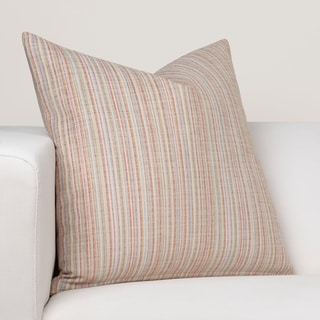 Porch & Den Littlegem Coral Stripe Throw Pillow
