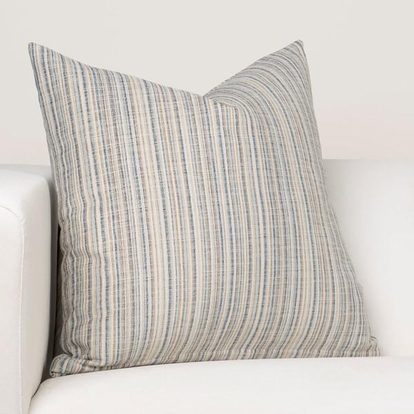 Ernest Hemingway Sandpiper Stripe Ocean Designer Throw Pillow. Opens flyout.