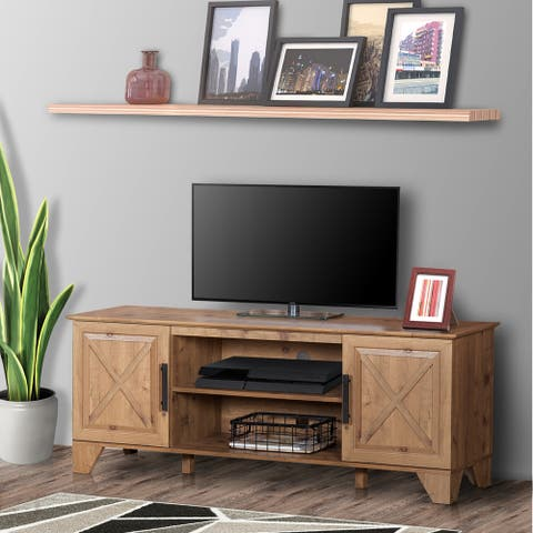 """Carbon Loft Cuthbertson 60 -inch Wide Farmhouse TV Stand - 59"""""""