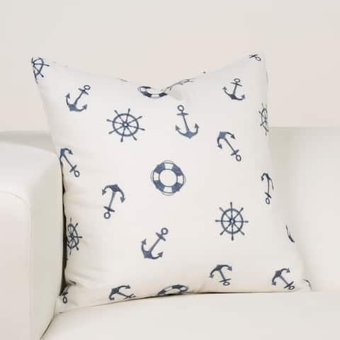 Ernest Hemingway Ship's Wheel Designer Throw Pillow