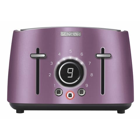 Sencor STS6073VT 4-slot Toaster with Digital Button and Rack, Violet