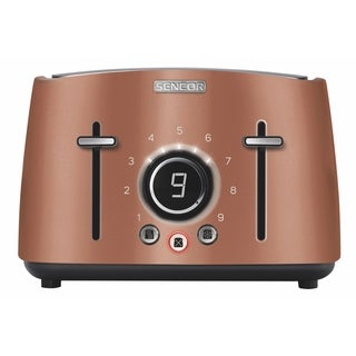 Sencor STS6076GD 4-slot Toaster with Digital Button and Rack, Gold