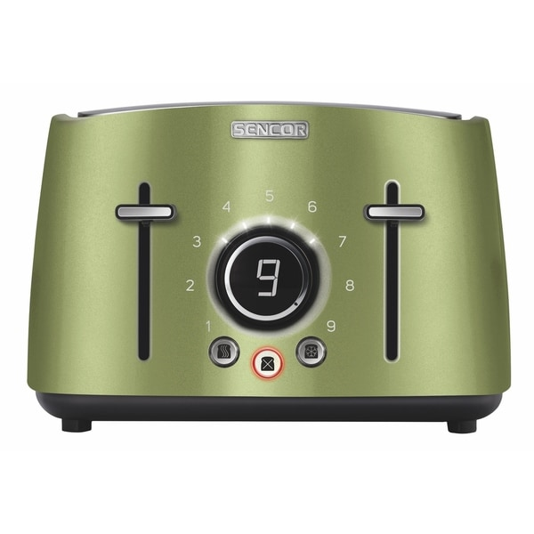 Sencor STS6070GG 4-slot Toaster with Digital Button and Rack, Light Green