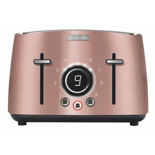Sencor STS6075RS 4-slot Toaster with Digital Button and Rack, Pink