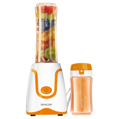 Sencor SBL2203OR Smoothie Blender with 2 Bottles, Orange