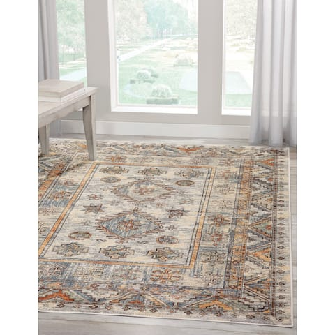 Braddock Grey/Rust Area Rug by Greyson Living