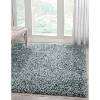 Charles Teal Shag Area Rug by Greyson Living
