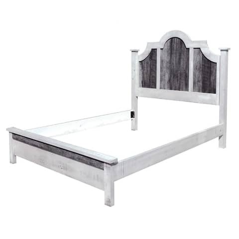 Flint Ridge Bonnet Bed in Two-Tone Rough Sawn Maple with Low Footboard