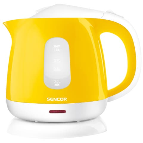 Sencor SWK1016YL Small Electric Kettle, 1L, Yellow