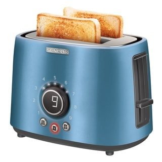 Sencor STS6052BL 2-slot Toaster with Digital Button and Rack, Blue