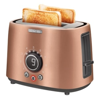Sencor STS6056GD 2-slot Toaster with Digital Button and Rack, Gold