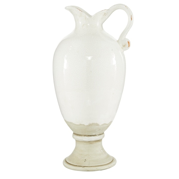Home Decorative Gold /& White Pedestal Bowl  with Gold Handle