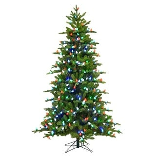 Holiday Bright Lights  Multicolored  Prelit 7 ft. Griswold Fir  Artificial Tree  400 lights 1249 tips