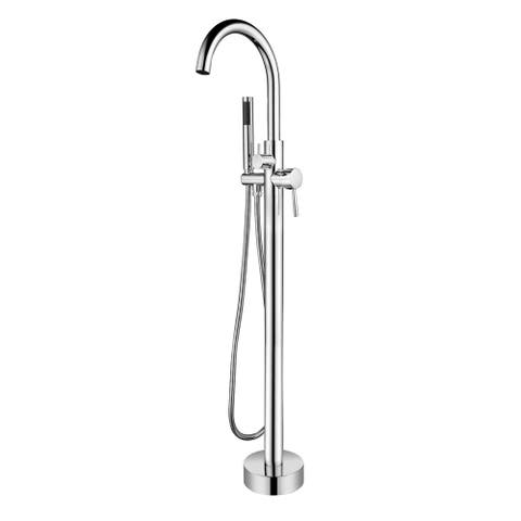 Pulse ShowerSpas Chrome Freestanding Tub Filler with Diverter
