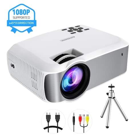 MPOW Portable LED Projector Home Theater Multimedia Projector Support 1280P Include HDMI VGA AV USB MicroSD Ports