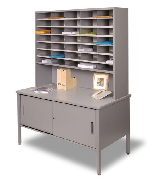 Marvel Steel Mail Room Cabinet With Sliding Doors