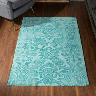 Addison Nolita Traditional Wool Damask Area Rug
