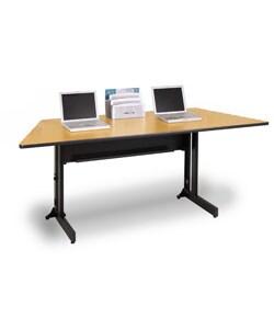 Marvel 72-Inch Durable Steel/Laminate Folding Trapezoid Training Table