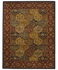 Safavieh Handmade Heritage Traditional Bakhtiari Multi/ Navy Wool Rug (9'6 x 13'6)