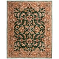 "Safavieh Handmade Heritage Traditional Kashan Dark Green/ Gold Wool Rug - 8'3"" x 11'"