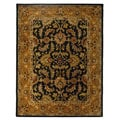 Safavieh Handmade Heritage Traditional Kashan Dark Green/ Gold Wool Rug (9'6 x 13'6)