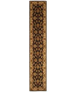 Safavieh Handmade Heritage Traditional Kashan Black/ Beige Wool Runner (2'3 x 8')