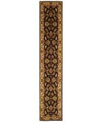 """Safavieh Handmade Heritage Traditional Kashan Black/ Beige Wool Runner Rug - 2'3"""" x 10'"""