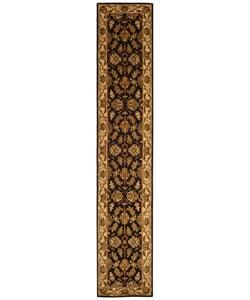 Safavieh Handmade Heritage Traditional Kashan Black/ Beige Wool Runner (2'3 x 12')