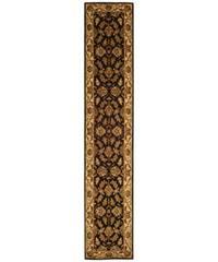 """Safavieh Handmade Heritage Traditional Kashan Black/ Beige Wool Runner Rug - 2'3"""" x 12'"""