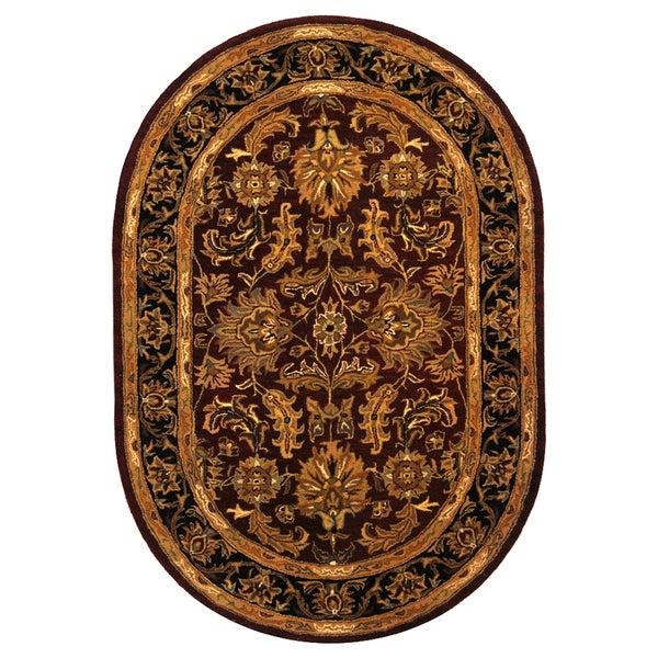 Safavieh Handmade Heritage Traditional Kashan Burgundy
