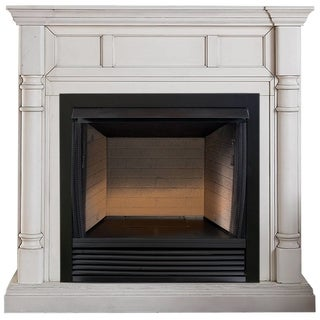 ProCom Heating 32in Ventless Firebox PC32VFC with CM500-2AW Antique White Finish - Model# FBS32-500-2AW