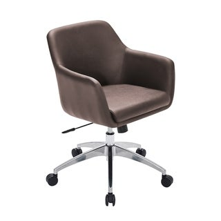 Conference Room Armchair & Meeting Chairs (Brown - Visitor Chairs - Bonded Leather)