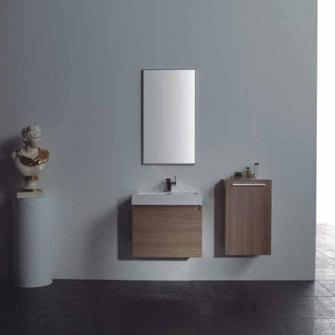 "Eviva Drop 24"" Light-Oak Vanity with White Acrylic Sink"